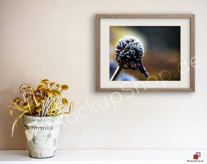 11x14 AUTUMN MUSHROOMS MOCKUP Frame Scene Smart Object / Set of 3 Scene / horizontal / autumn mushrooms photo frame mockup scene creator