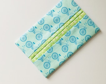 Blue Bicycles Travel Tissue Holder, Pocket Tissue Cover