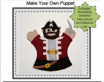 PDF Template Download - Pirate Hand Puppet