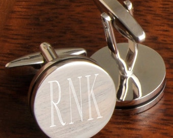 Personalized CuffLinks - Engraved CuffLinks - Groomsmen CuffLinks - Monogrammed Cufflinks - Gifts for Dad - Husband - Gifts for Him - GC797