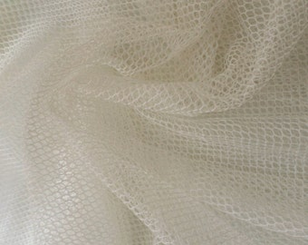 "Cotton bobbinet or bobbinette - pure cotton - cotton English net - priced per yard 42"" wide or 87"" wide"