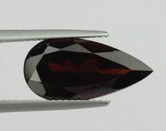 Natural Genuine Dark Red Garnet AAA Pear Shape loose stone (4x3mm - 12x8mm)