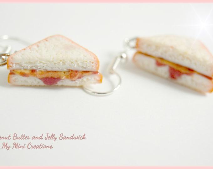 Peanut Butter & Jelly Sandwich Earrings, Miniature Food, Miniature Food Jewelry, Food Jewelry