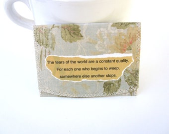 Tears of the World  ID,Bus or Metro Pass,Library Card  Holder / Wallet