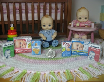 1/6 playscale baby nappy choo miniature diapers barbie dollhouse action figure blythe