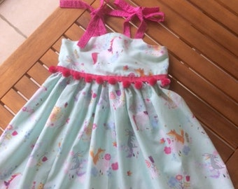 Unicorn dress girls toddlers babies Easter Birthday Special Occasion