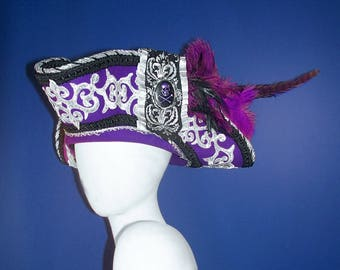 Magnificent Purple Pirate Hat OOAK