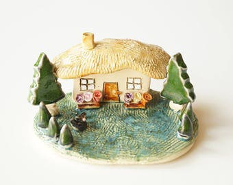 Miniature House, housewarming gift, little rustic house, love house