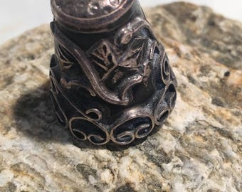 Art nouveau Sterling Silver Sewing Thimble