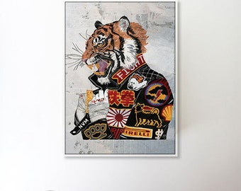 Year of the Tiger (Digital Art on Canvas)