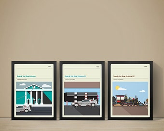 Back To The Future Inspired Movie Posters - Set of Prints, Film Poster, Movie Poster, Movie Print, Back To The Future Poster
