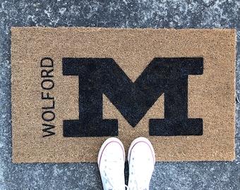 MCDONALD BLUE DEVILS - Custom Doormat - Ohio