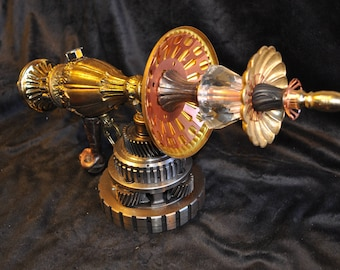 "Ray Gun "" GRAVITY DISPLACER RAYGUN "" Table Top Steampunk Sci-fi Victorian Industrial"