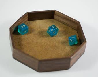 Dice Box, Rolling Tray, Walnut