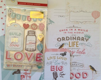 Adventure - Set B, Project Life Kit, Snail Mail Kit, Planners, Card Making, Project Life Cards