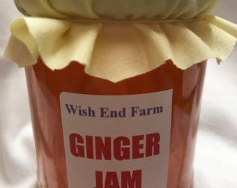 Ginger Jam, Homemade 200g (7oz) Jar, Hostess Gift, Food Gift, Homemade Jam, Easter Gift, Birthday Gift, Homemade Food, Teacher Gift