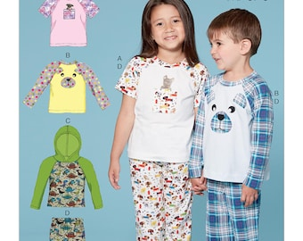McCall's Sewing Pattern M7678 Children's/Boys'/Girls' Animal Themed Tops and Pants