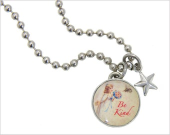 Bee Kind Charm, Kids Necklace, Childrens Jewelry, Girls Necklaces, Girls Bracelets, Interchangeable jewelry, Kids Bracelet, Photo Jewelry,