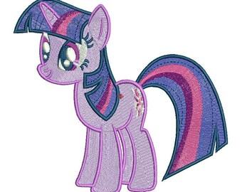My Little Pony-Twilight Sparkle Machine Embroidery Design, Twilight Sparkle Cartoon Embroidery Design, Embroidery-character embroidery