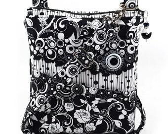 Small Crossbody Bag Black White