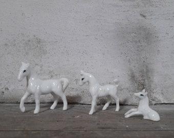 Miniature Horses, Horse Figurine, Dollhouse Horse Miniatures, Dollhouse Animals, Miniature Farm Animals, Porcelain Horse, Instant Collection