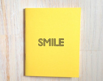 Medium Notebook: Smile, Yellow, Fun, Bright, Kids, Blank Journal, Wedding, Favor, Journal, Blank, Unlined, Unique, Gift, Notebook, BBBB292