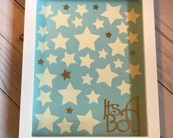 Boy baby shower guest book alternative  It's a boy!