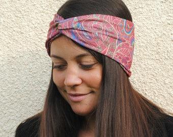 Women's headband, Boho headband, Yoga headband, Boho turban, Wide headband, Paisley headband, Knot headband, Twist headband, Hippie headband