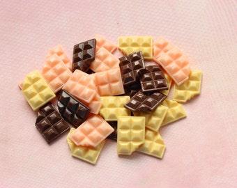 Bitten Chocolate Cabochons Flatback Embellishments Kawaii Decoden