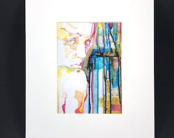 "Fine Art Print ""Serie - Silenciö dorado"" - 18x13cm - comes on 30x24cm Passpartout"