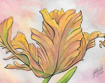 Beauty in the Decay - Yellow Tulip Print