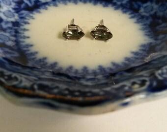 "3/8"" Estate Sterling Silver 925 Natural Mystic 1ct Alexandrite Gemstone Earrings Studs E32"