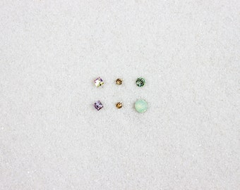 Hypoallergenic Silicone Jewel Stud Earrings
