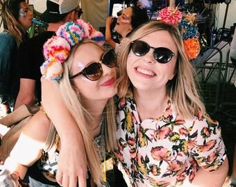 Sparkly Handmade Pom Pom Festive Headband