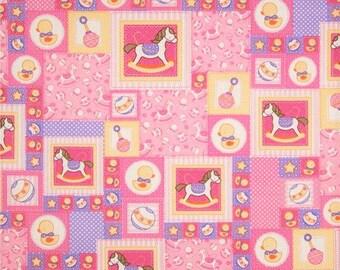 Baby Talk Fabric by Fabri-Quilt Fabrics 1 yard  Last of the Bolt!