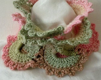Lacy Scarf  no.1  Crochet Pattern PDF - permission to sell what you  make