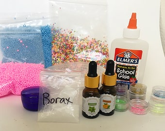DIY Scented Slime Kit! Perfect Gift-Customize your color and add ins for endless possibilities!