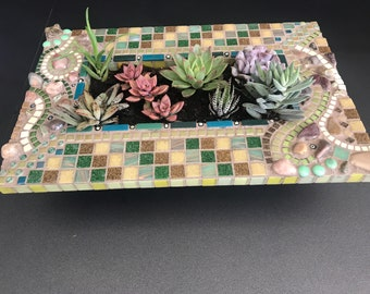 Mosaic planter, Original designs by jules