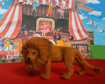Lion. Zoo. Circus. Wild animal. King of beasts. Miniature animal. Realistic wild animal for your Dollhouse Scale 1:12.Doll miniature
