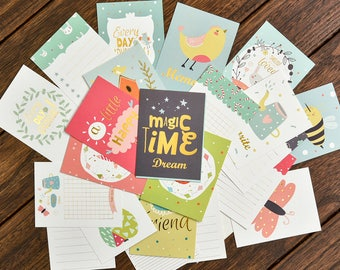Cute Baby journaling cards set ~ Gold foil project life card pack, scrapbooking embelishment,scrapbooking card, memory keeping journal