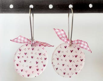 Earrings Mini Mofo hearts roses v1 - Mofo collection