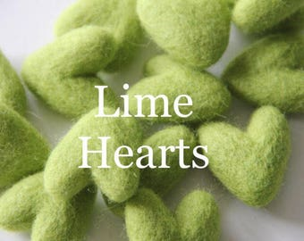 Felt Hearts 3-4cm, Wool Felt Hearts, Felt Beads, Felt balls