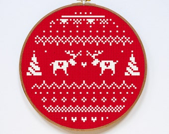 Ornament Cross Stitch Pattern, Winter Ornament Cross Stitch Pattern, Modern Cross Stitch Pattern, PDF Format, Instant Download