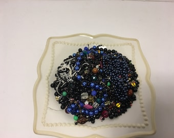 Destash 1/2 Pound Assorted Beads Darks