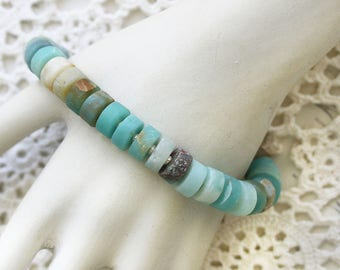 Amazonite Bracelet - Beaded Bracelet - Everyday Bracelet - Thank you Bracelet Gift - Beaded Bracelet for Wife - Gift for Her Under 30