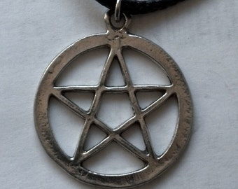 Fine Pewter Pentacle Necklace