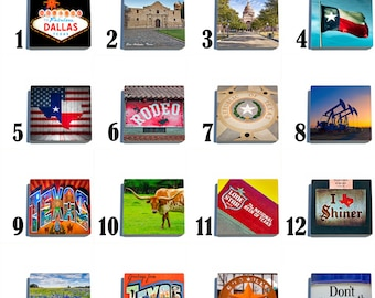 Iconic Texas Stone Coaster Set - Pick any 4 images - 16 to choose from