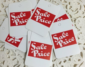 Store TAGS / 12 SALE PRICE Tags for Journals, Cards, Altered ARt, Mixed Media, Collage