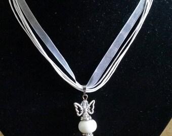 White Angel pendant necklace