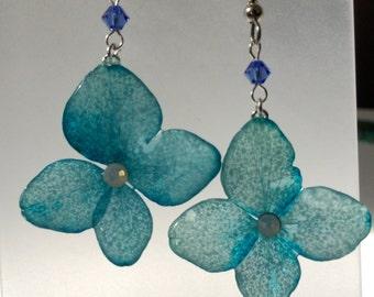 Handmade resin pressed dried real flower jewelry